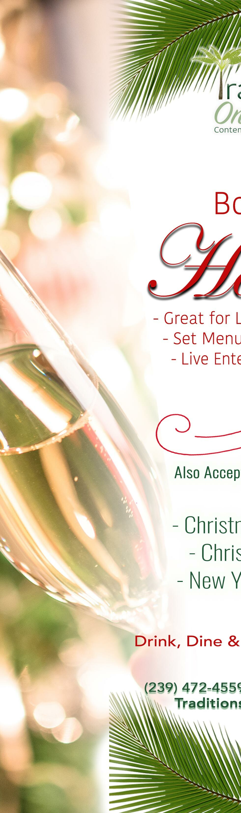 sanibel christmas party flyer